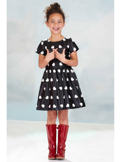 Girls Embroidered Hearts Dress  bla alt1