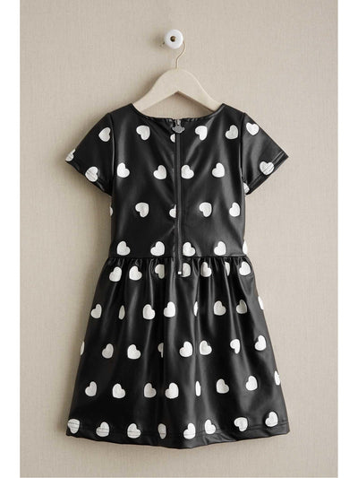 Girls Embroidered Hearts Dress  bla alt2