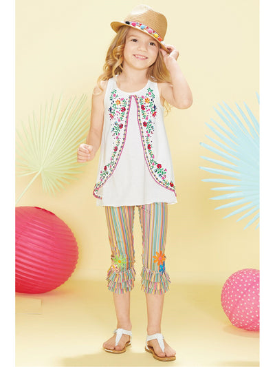 Girls Embroidered Tank Tunic