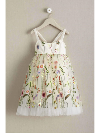 Girls Embroidered Vines Dress
