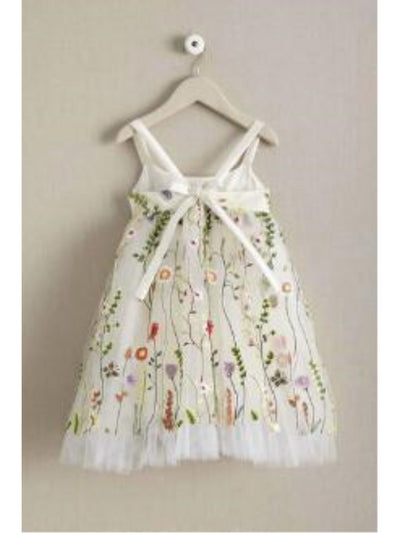 Girls Embroidered Vines Dress  ivo alt1