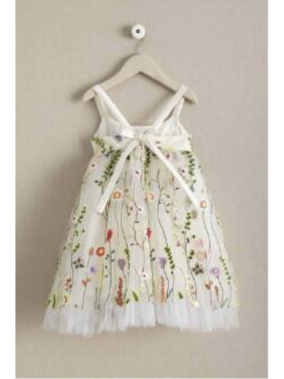 Girls Embroidered Vines Dress  ivo alt2
