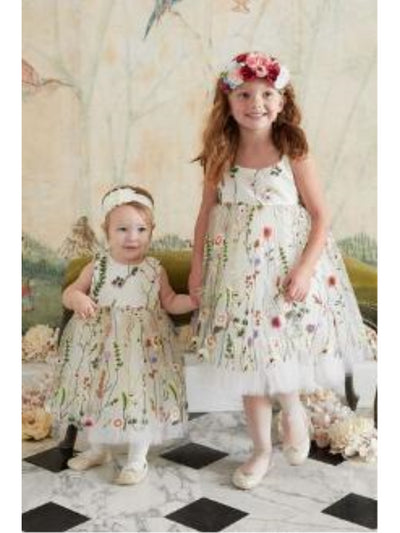 Girls Embroidered Vines Dress  ivo alt3