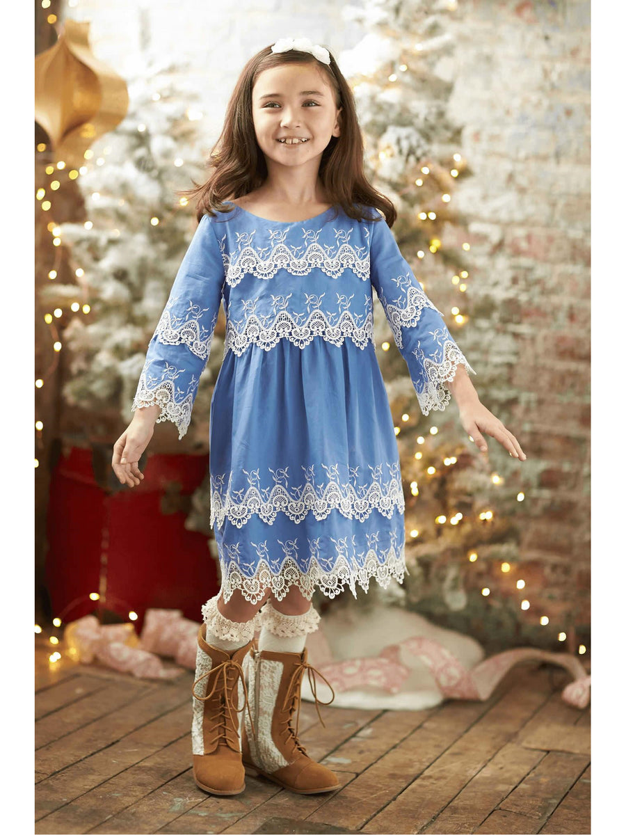 Girls Eyelet Afternoon Dress