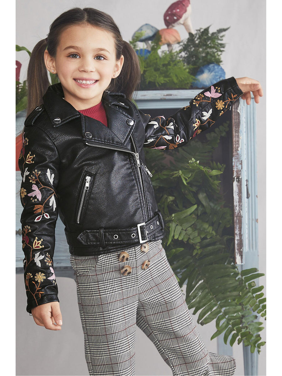 Girls Fab Florals Moto Jacket