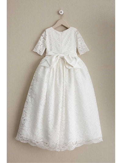 Girls Fancy Lace Dress  whi alt2