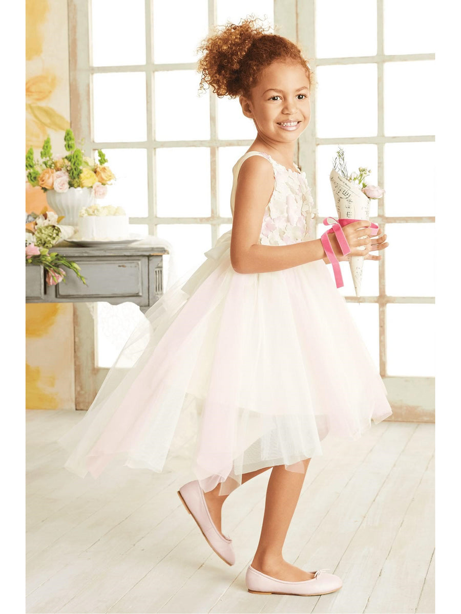 Girls Fancy Scattered Flowers Dress