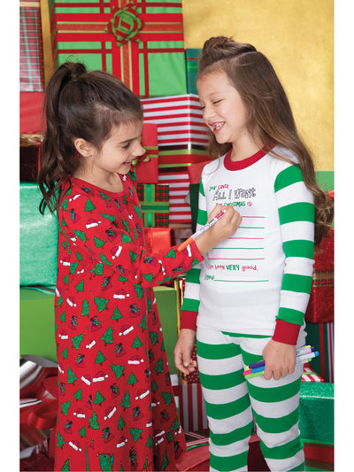 Girls Festive & Fun Nightgown  red alt1