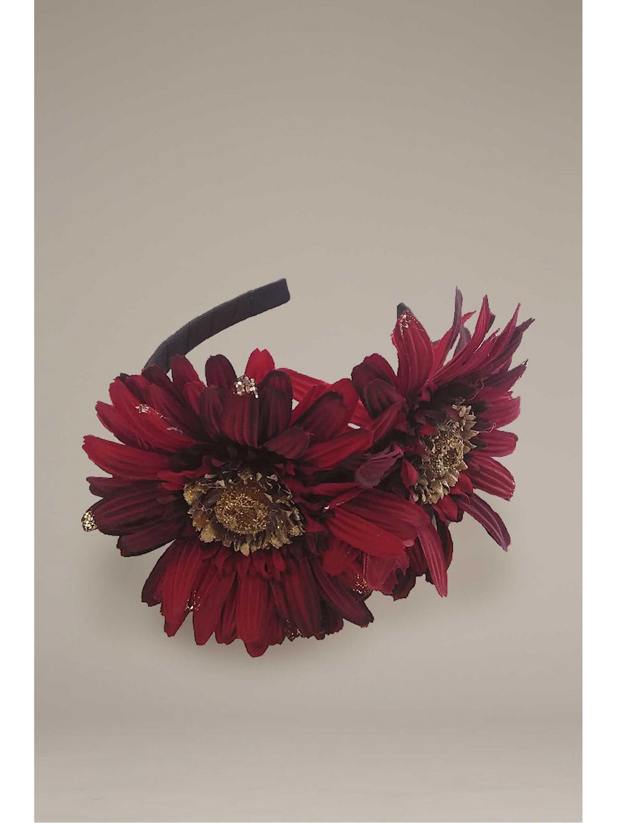 Girls Festive Flowers Headband