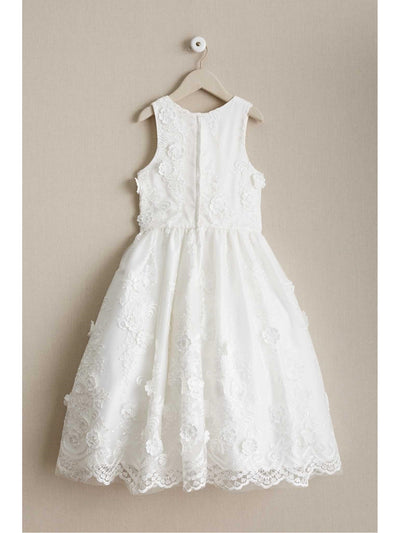 Girls Floral Bouquet Dress  whi alt2