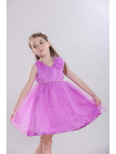 Girls Floral Corsage Dress  pur alt1