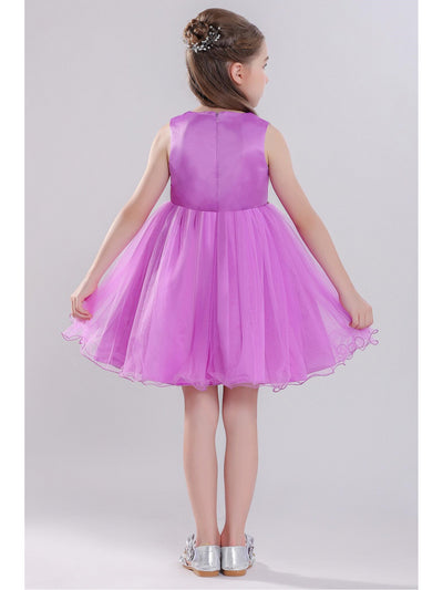 Girls Floral Corsage Dress  pur alt2