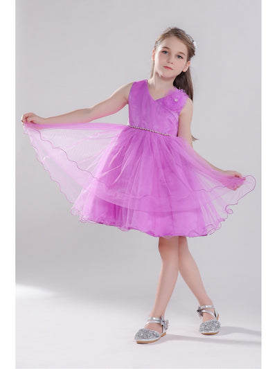 Girls Floral Corsage Dress  pur alt3