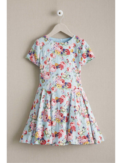 Girls Floral Pocket Dress  lbl 1