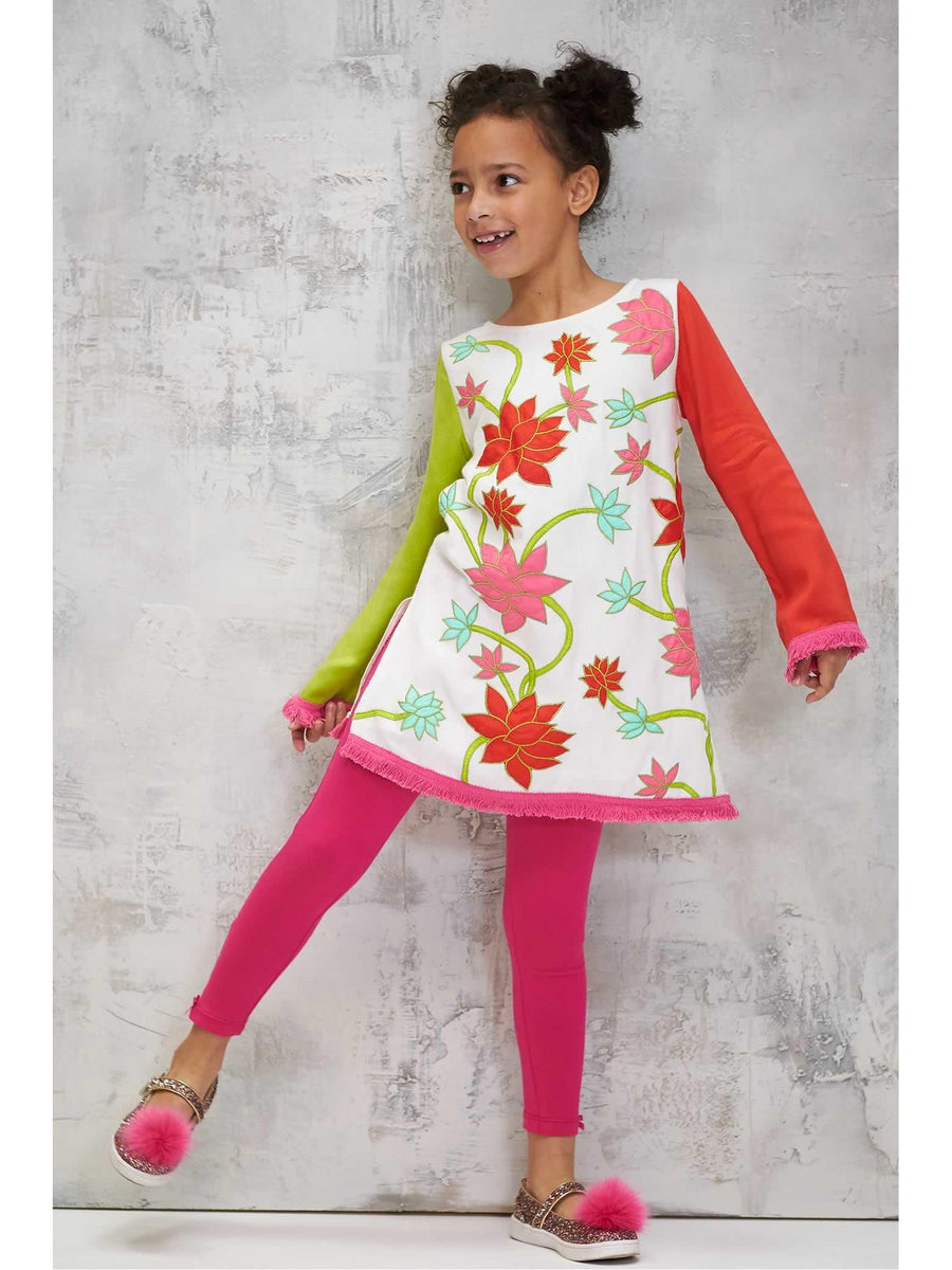 Girls Floral Tunic Dress