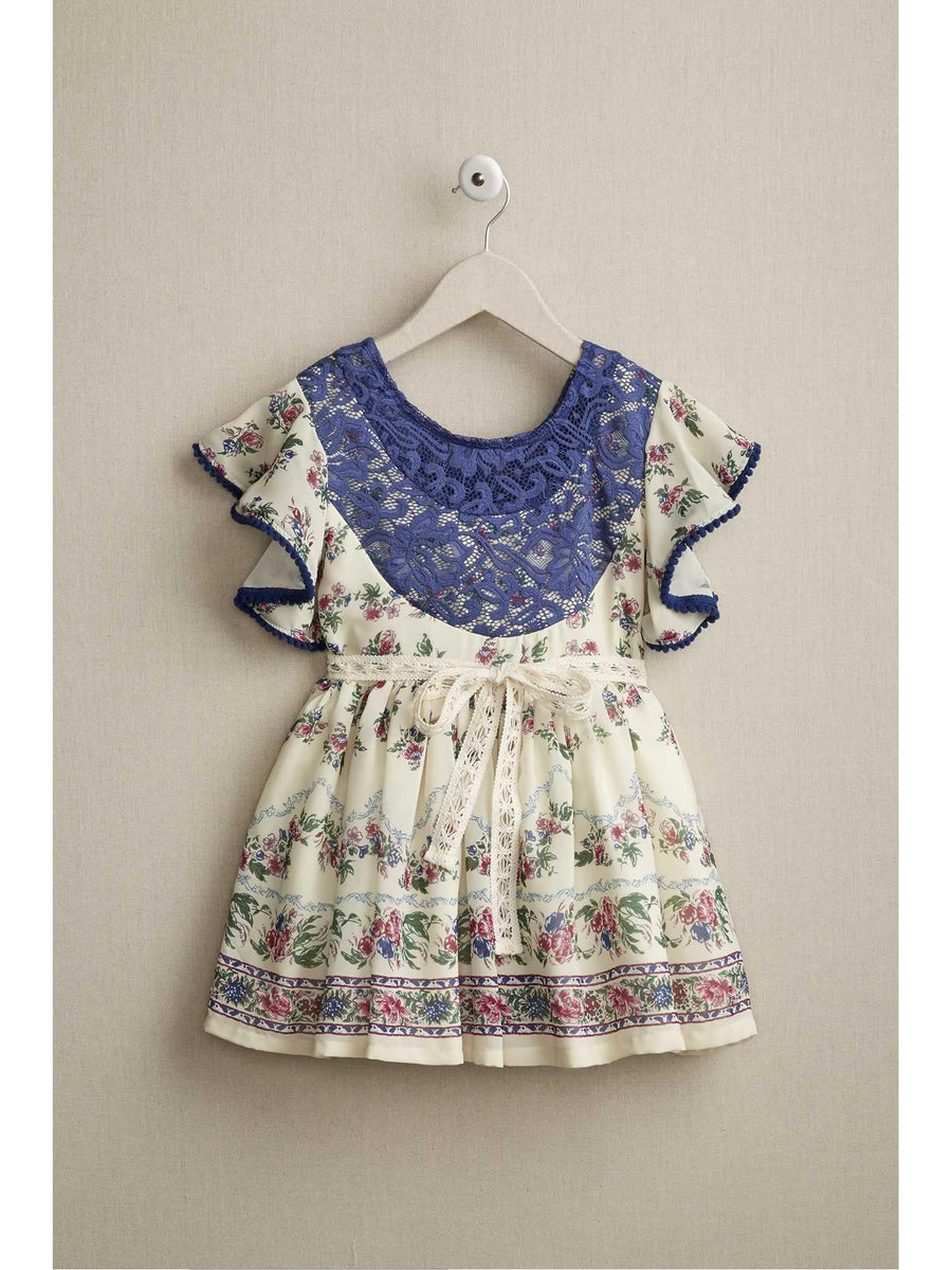 Girls Flouncy Ruffles Dress
