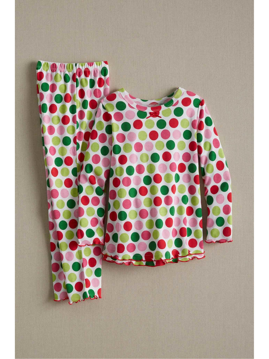 Girls Flower Dots Pj's