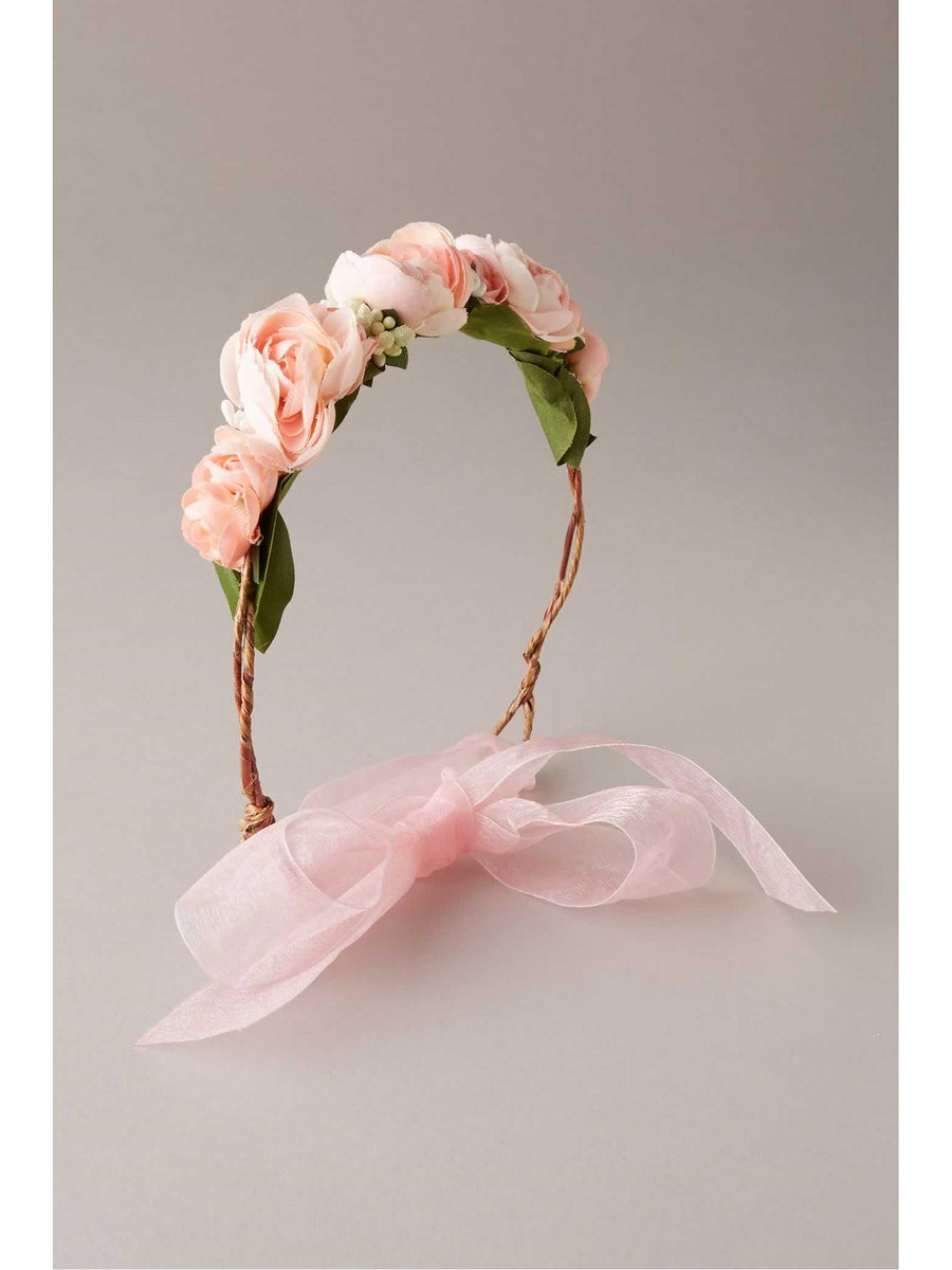 Girls Flower Tie Headband