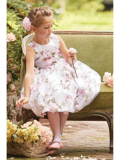 Girls Flower Trellis Dress  ivo alt1