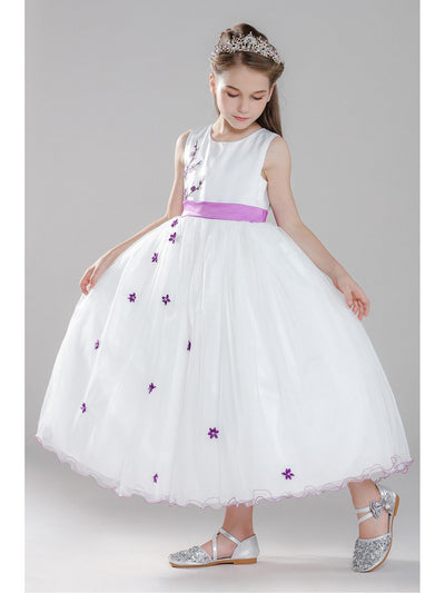 Girls Flowering Branch Dress  whtfl alt1