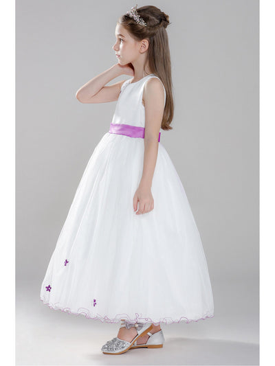 Girls Flowering Branch Dress  whtfl alt3