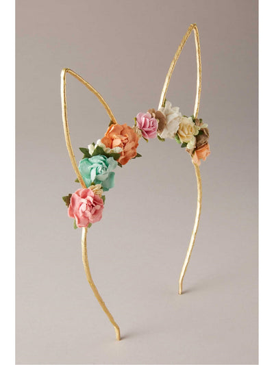 Girls Flowery Bunny Ears Headband