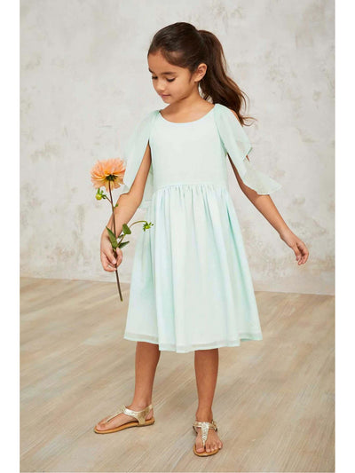 Girls Flutter Shoulder Dress