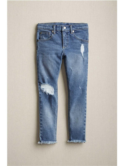 Girls Frayed-Hem Jeans  den alt2
