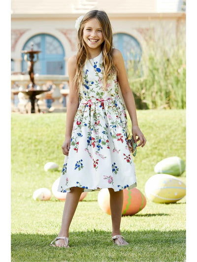 Girls Fresh Flowers Dress  whi alt1