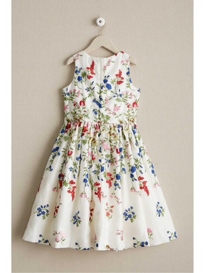 Girls Fresh Flowers Dress  whi alt2