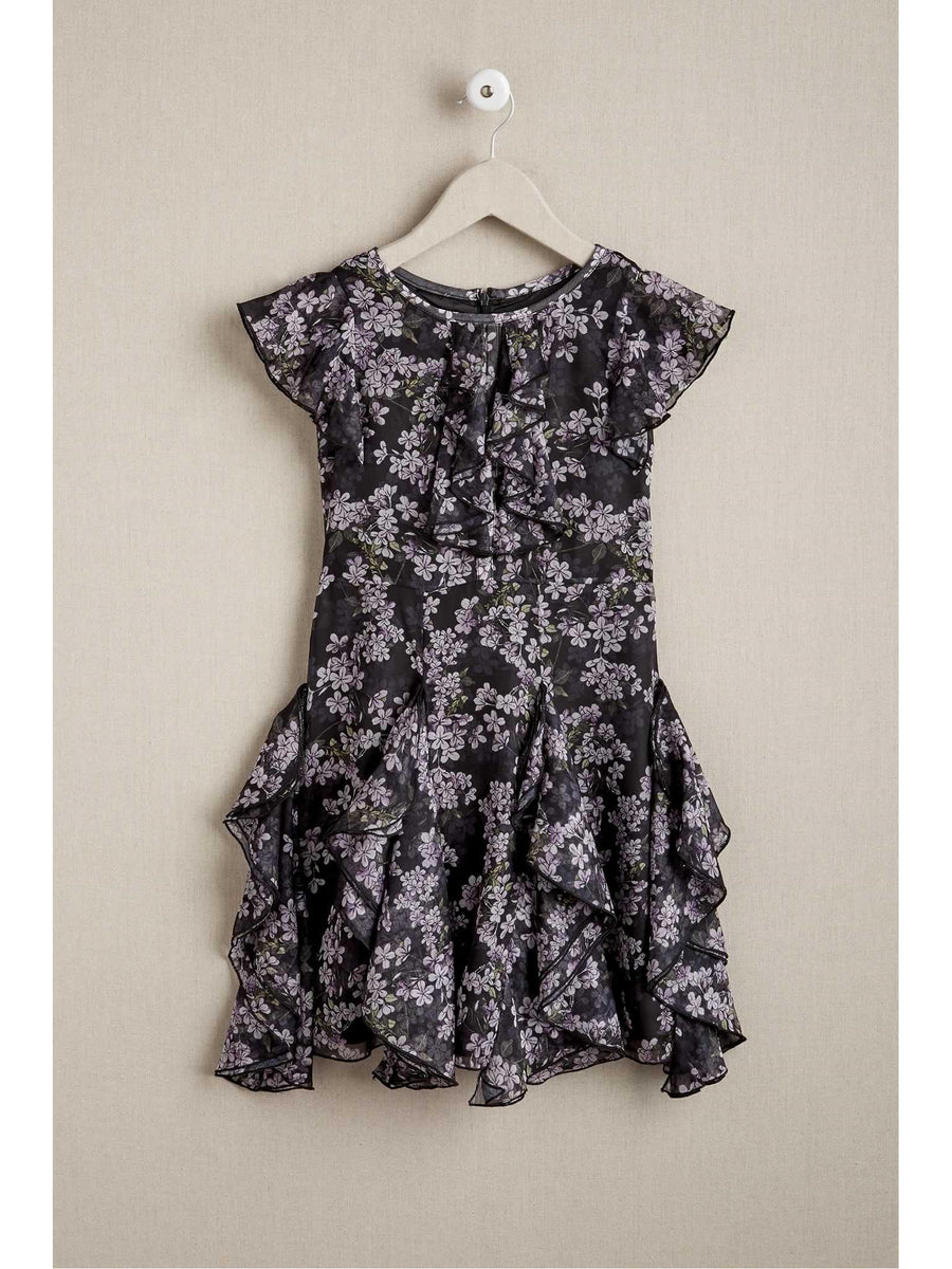 Girls Frilly Ruffles Dress