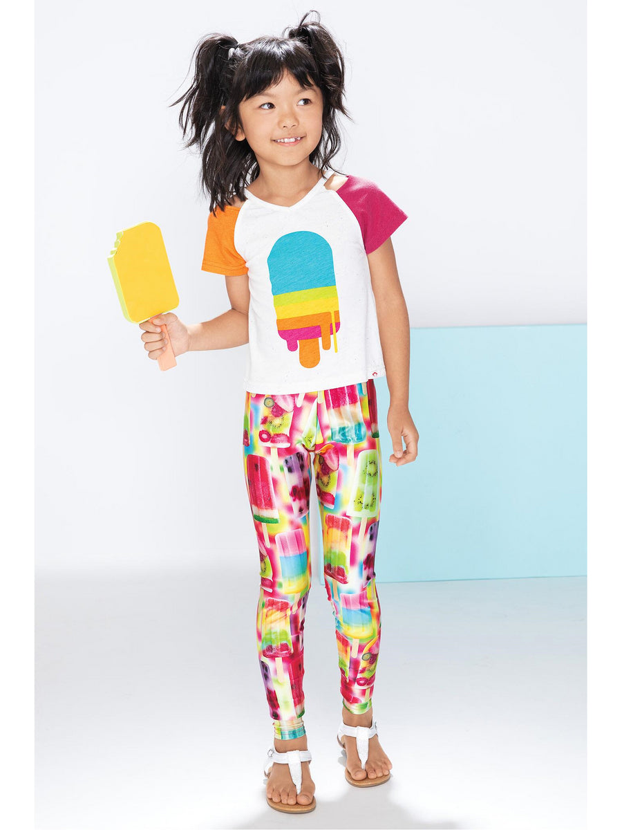 Girls Terez Fruit Ice Pops Leggings
