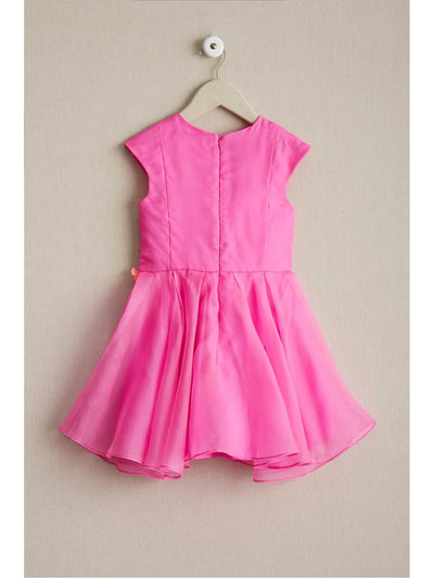 Girls Fuchsia Hibiscus Dress  fuc alt1