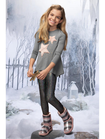 Girls Furry Stars Tunic