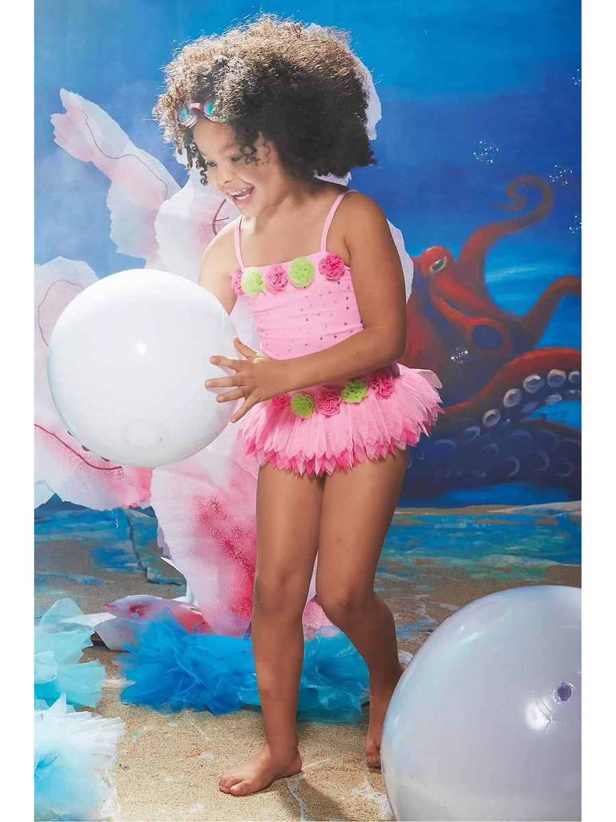 Girls Garden Fairy Swimsuit