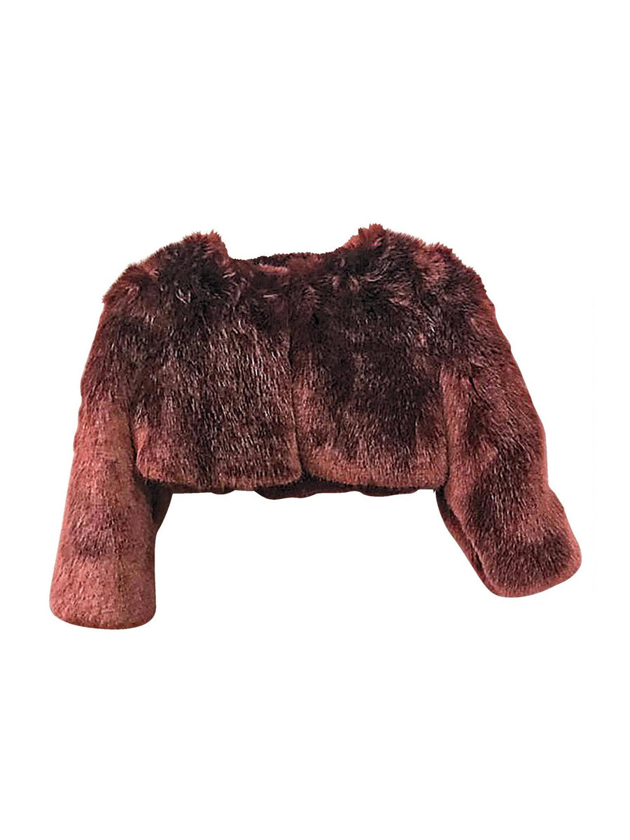 Girls Garnet Faux Fur Jacket