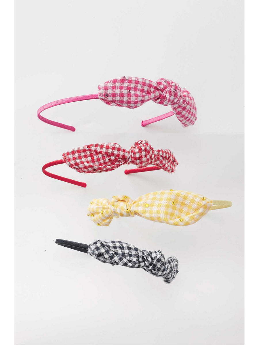 Girls Gingham Knot Headband