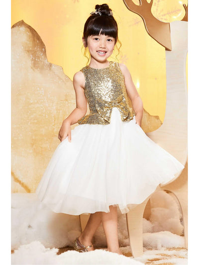 Girls Glimmer Dress  gol alt1