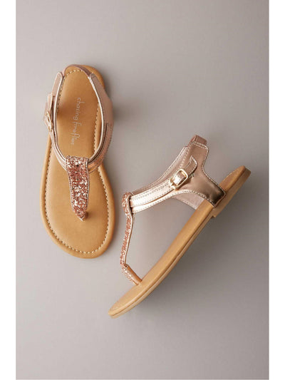 Girls Glitter Sandals  ros 1