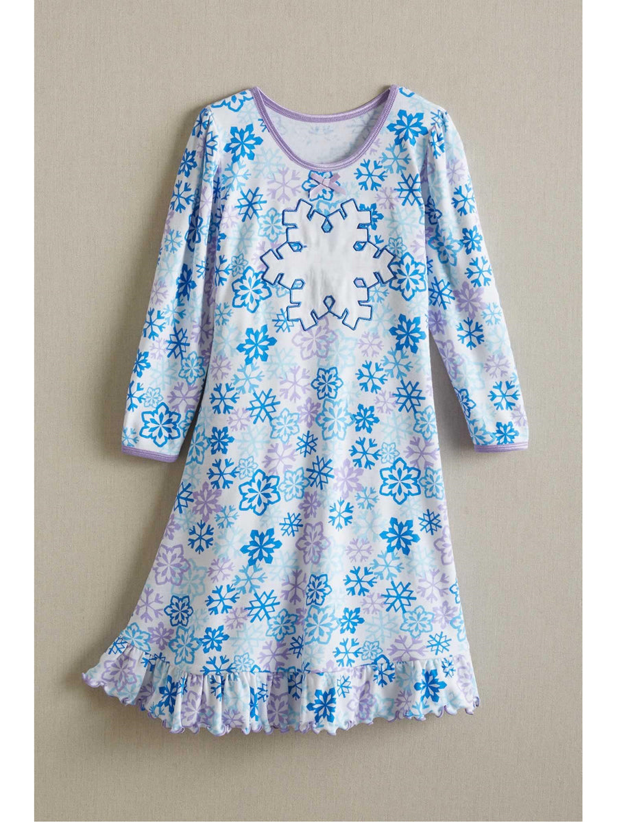 Girls Glitter Snowflake Nightgown