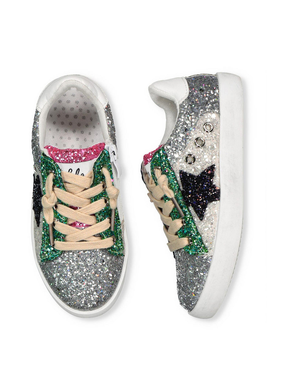 Girls Glittering Stars Sneakers
