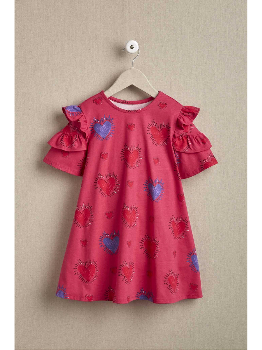 Girls Happy Hearts Dress