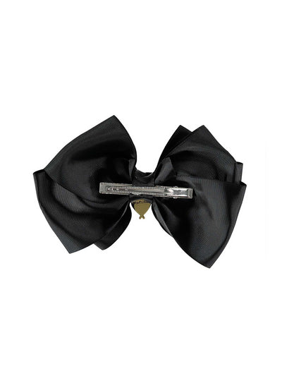 Girls Heart Charmed Bow  blk alt1