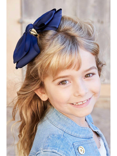 Girls Heart Charmed Bow  blk alt2