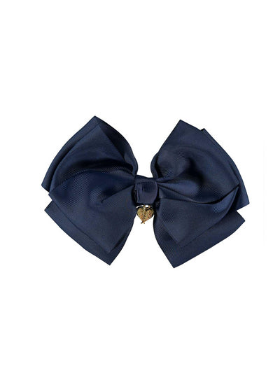 Girls Heart Charmed Bow  nvy 1