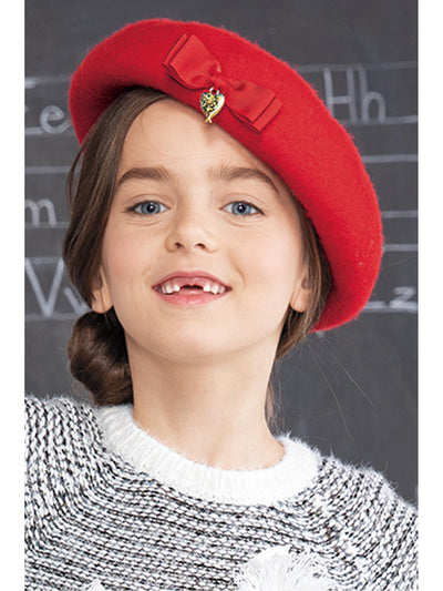 Girls Heart Charmed Hat  red alt1