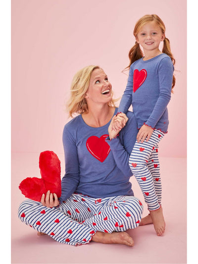 Girls Heartstrings PJ's  blu alt1