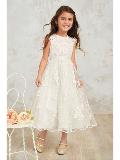 Girls Heirloom Floral Lace Dress