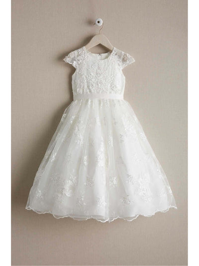 Girls Heirloom Floral Lace Dress  ivo alt1