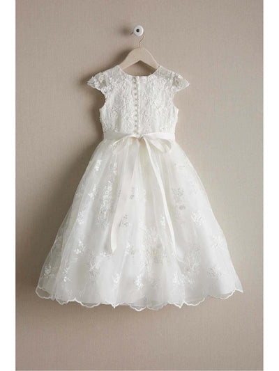 Girls Heirloom Floral Lace Dress  ivo alt2